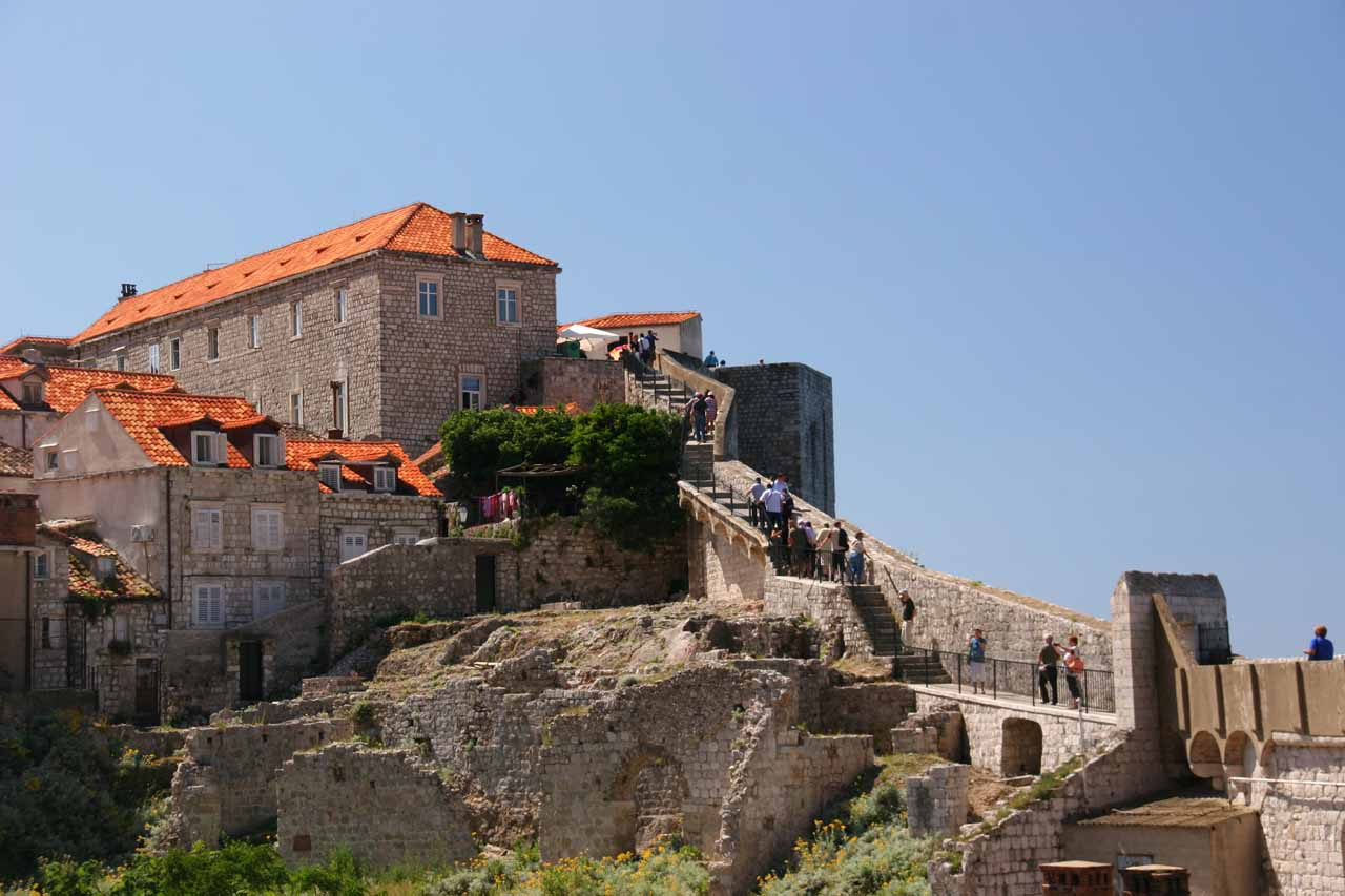 Continuing along the City Walls on the perimeter of Old Dubrovnik
