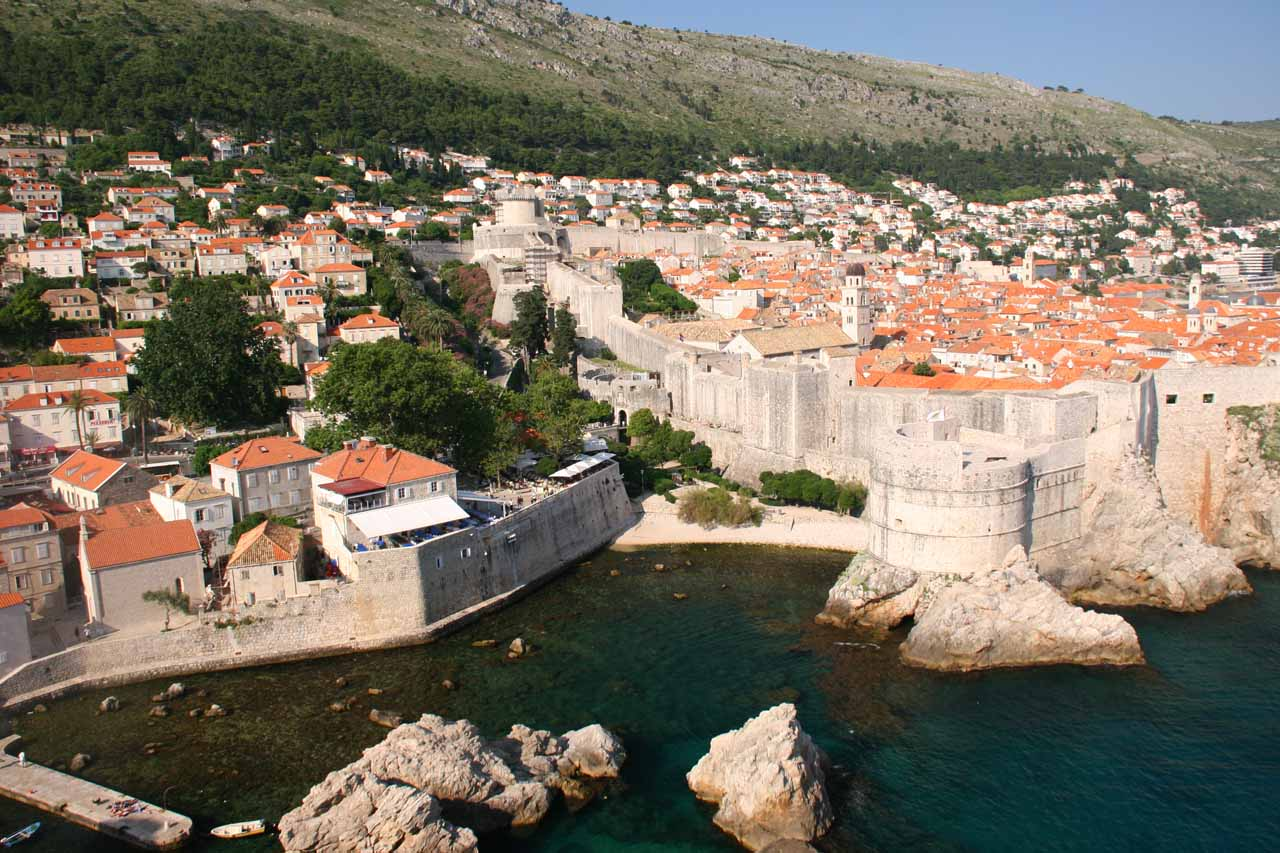 View of Dubrovnik from the fortress