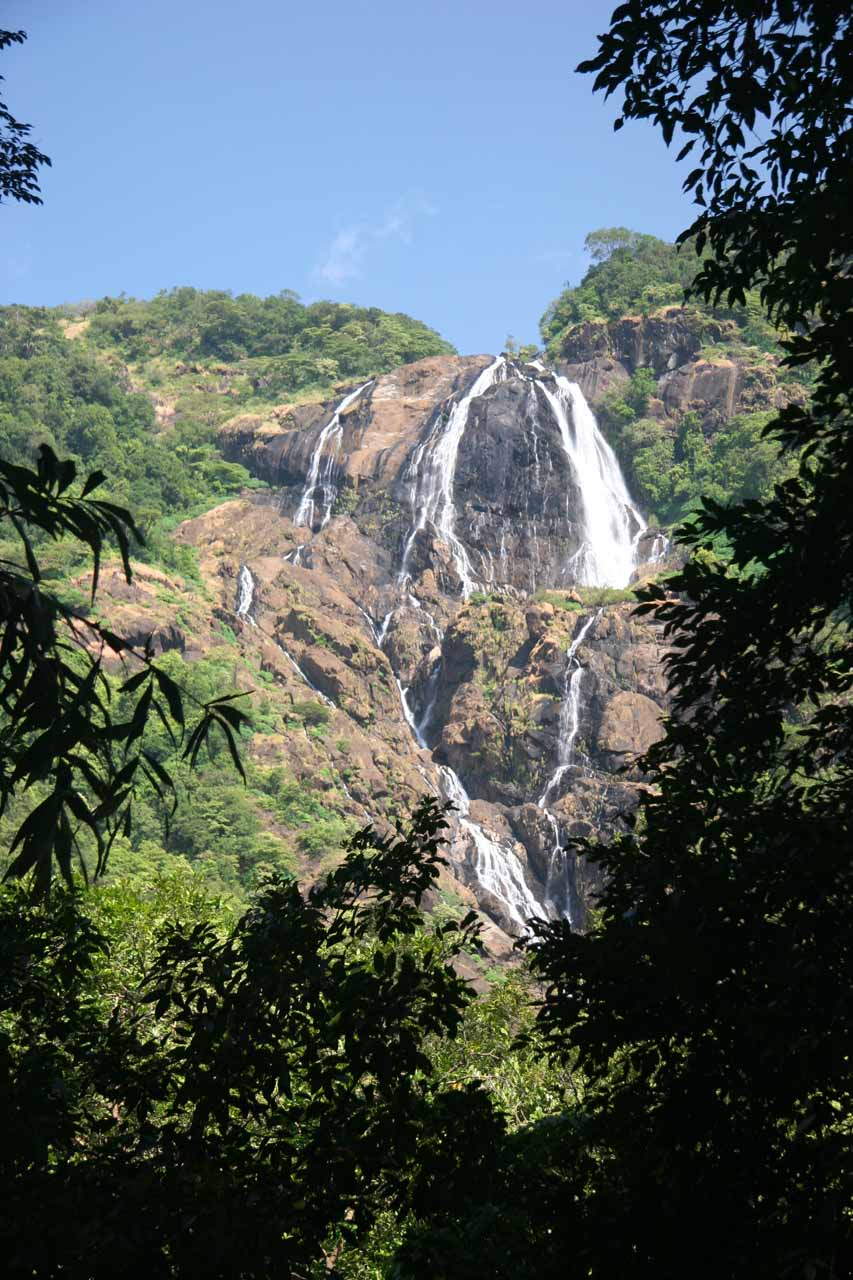 Partial view of Dudhsagar Falls