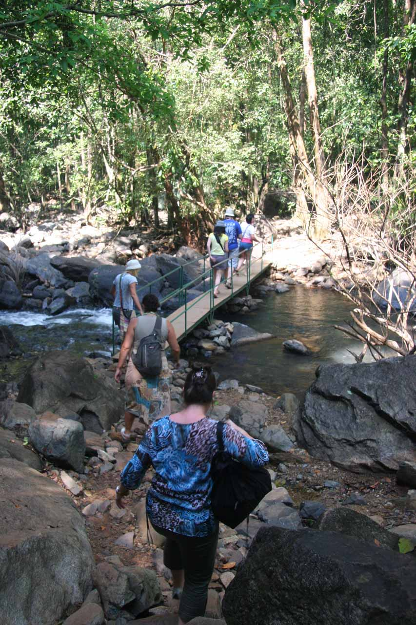 Hiking towards the Dudhsagar Falls