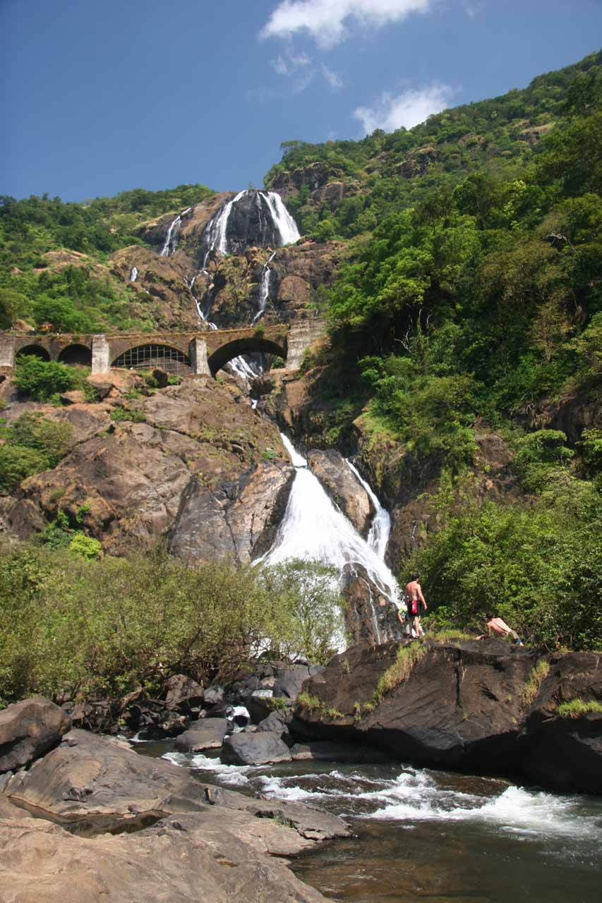 At the base of Dudhsagar Falls