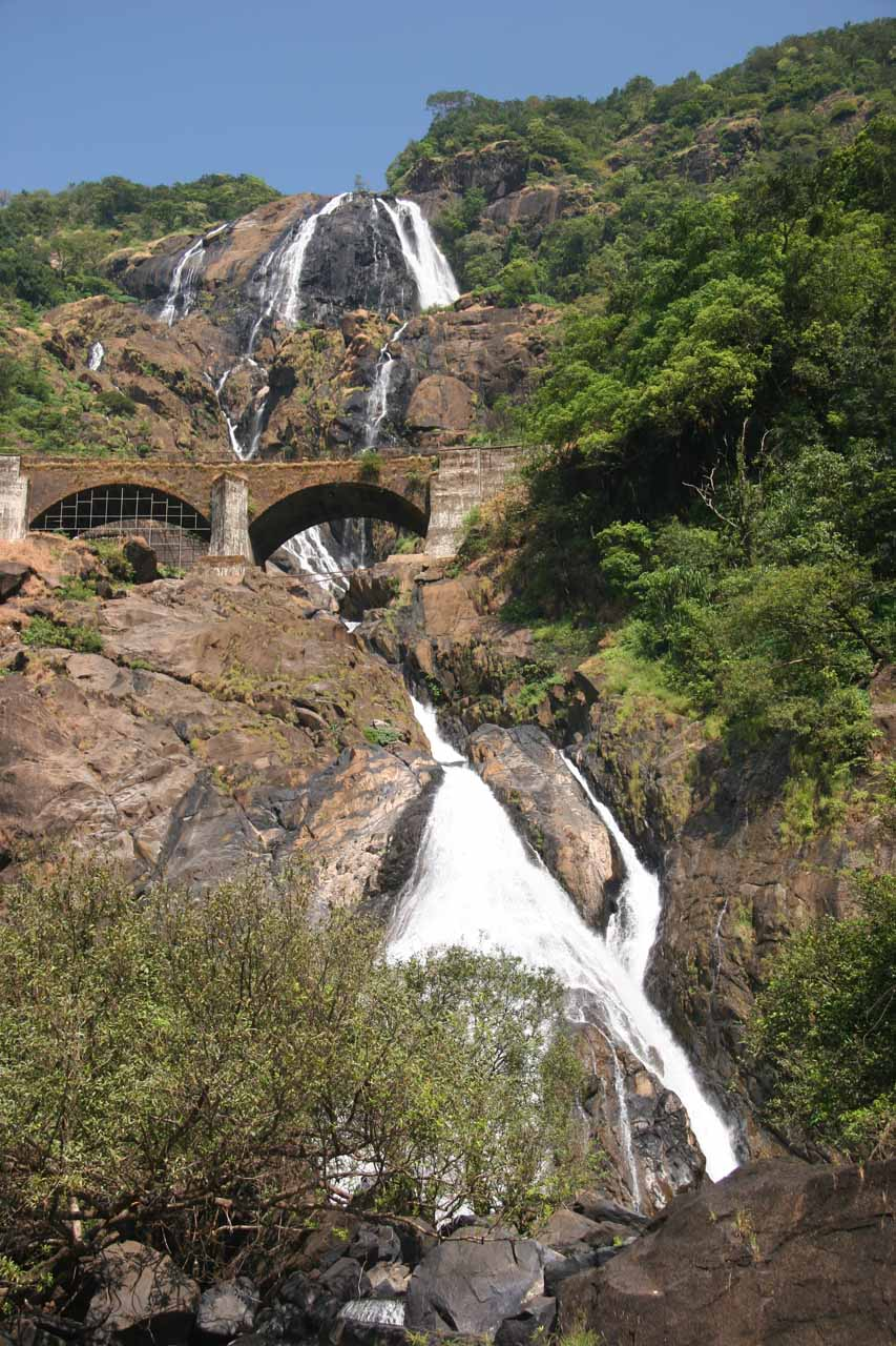 Another look up at the Dudhsagar Falls