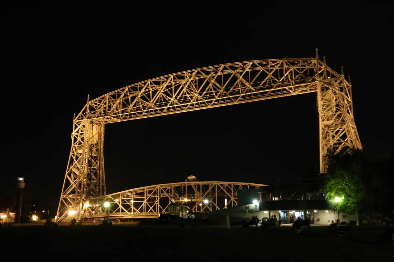 The iconic bridge in Duluth