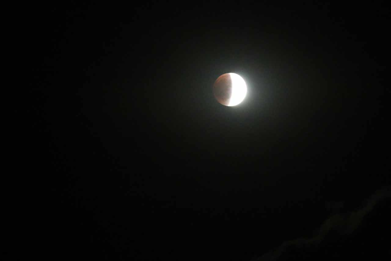 On the evening we stayed in Duluth after our visit to Gooseberry Falls, we also managed to witness some of the eclipse before clouds started to get in the way