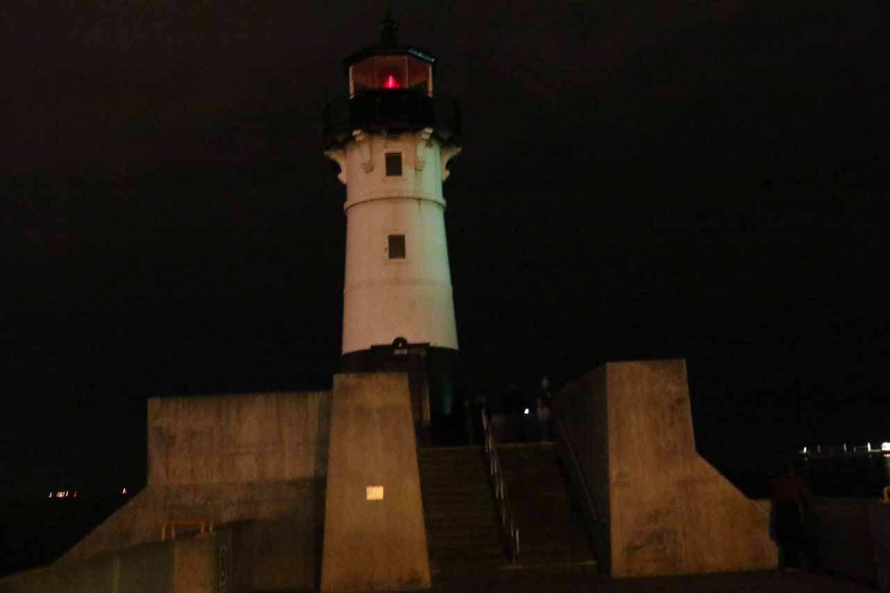 The lighthouse in Duluth