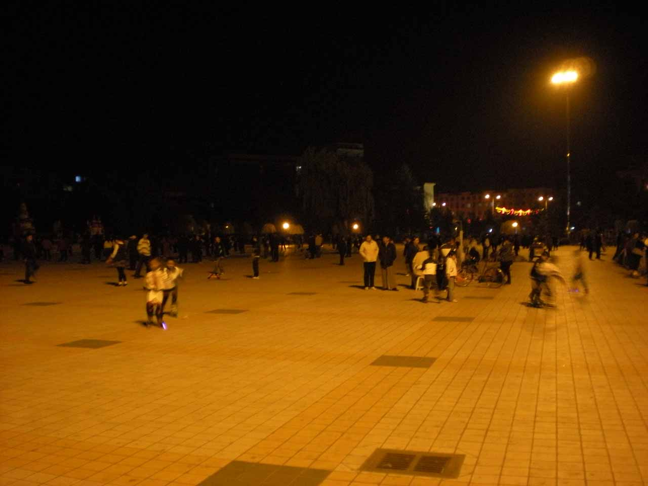 The happening public square in Dunhua