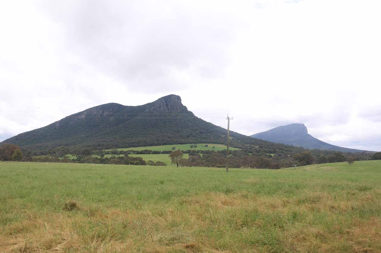On the drive between Halls Gap and Hamilton, we noticed the shapely Mt Abrupt and Mt Sturgeon near the town of Dunkeld