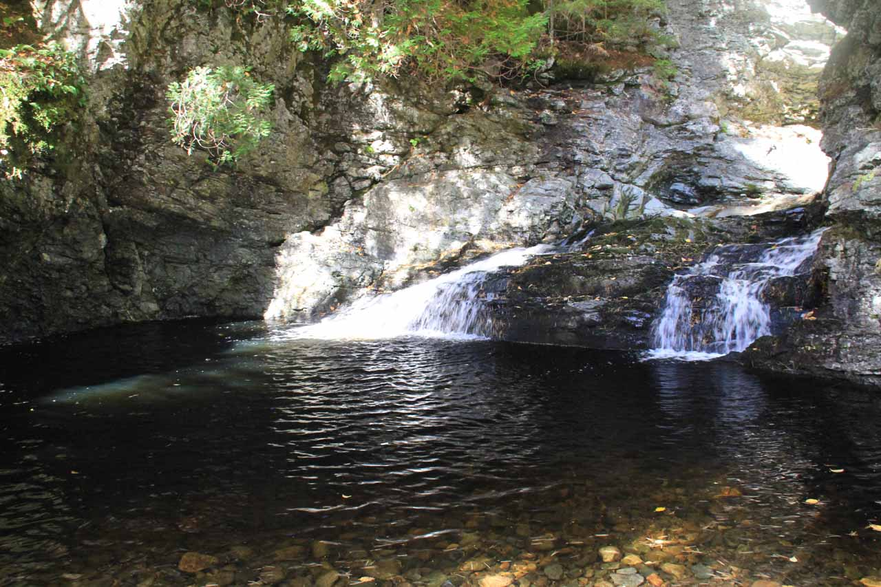 Inviting pool beneath the Upper Dunn Falls
