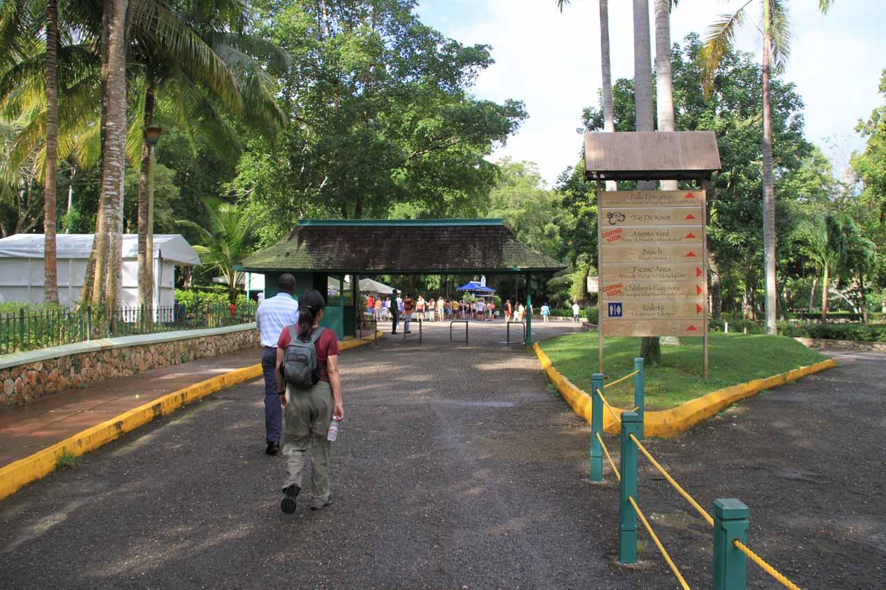Going through the entrance