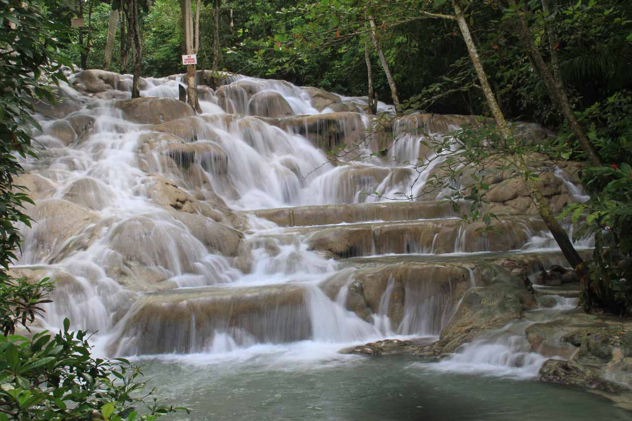 The main section of the falls before the arrival of the tourist crush