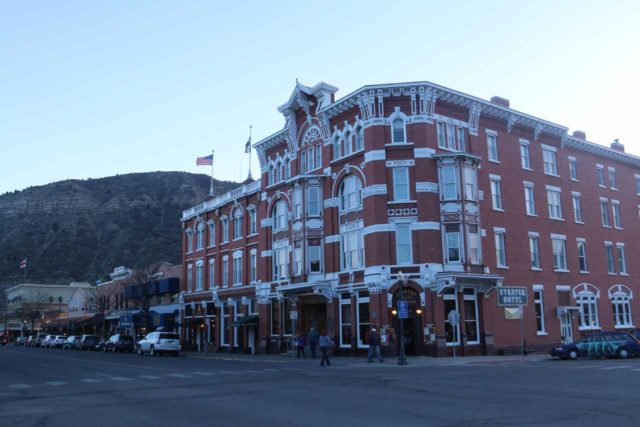 Durango_004_04152017 - Durango was about an hour drive Silverton, but it was a convenient base for Mesa Verde and some other Rocky Mountain attractions. Shown here was the historic and charming Strater Hotel