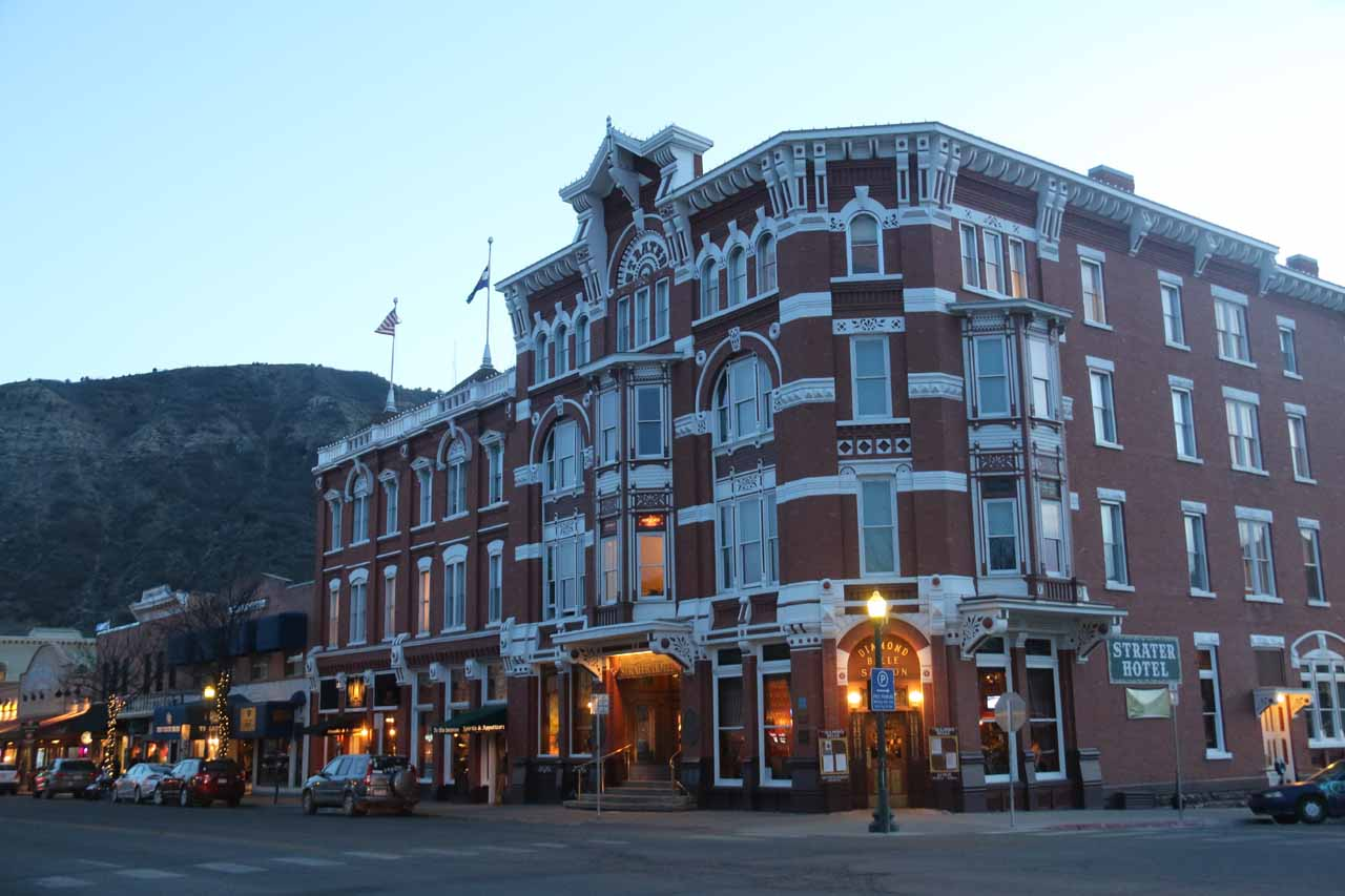 Durango was between 2-3 hours drive from Telluride, but it was a convenient base for Mesa Verde and some other Rocky Mountain attractions. Shown here was the historic and charming Strater Hotel