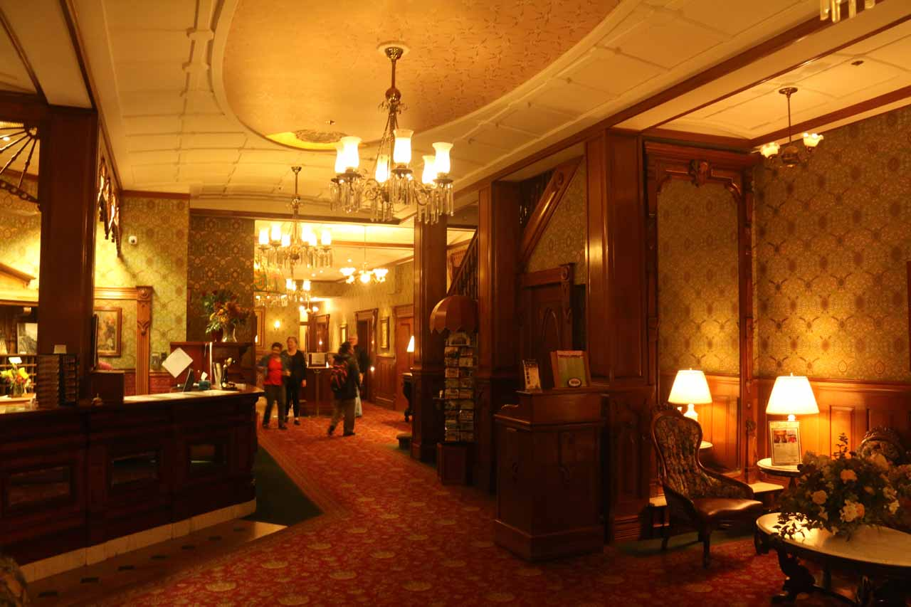 Durango was about a two-hour drive from Ouray, but it was a convenient base for Mesa Verde and some other Rocky Mountain attractions. Shown here was the historic and charming Strater Hotel's interior