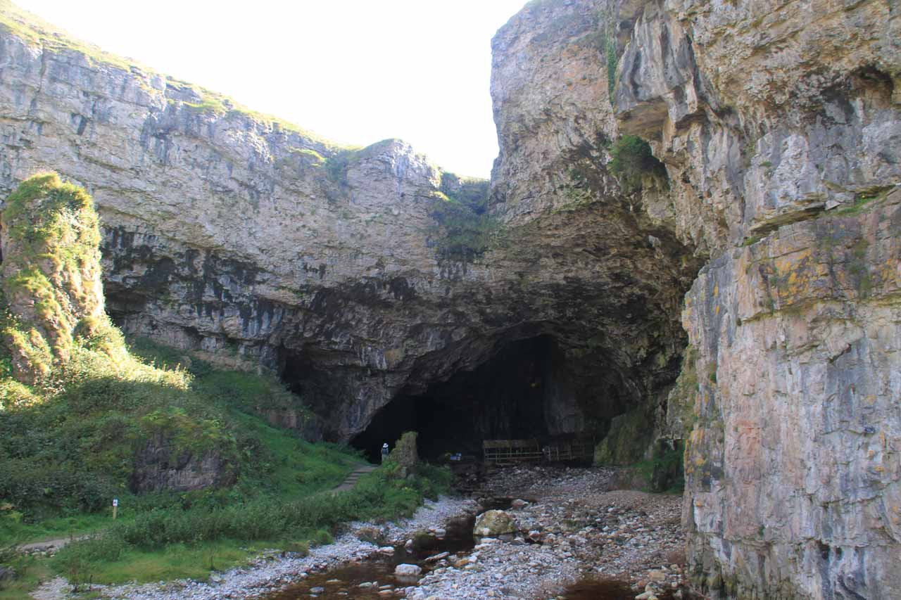 The entrance to Smoo Cave