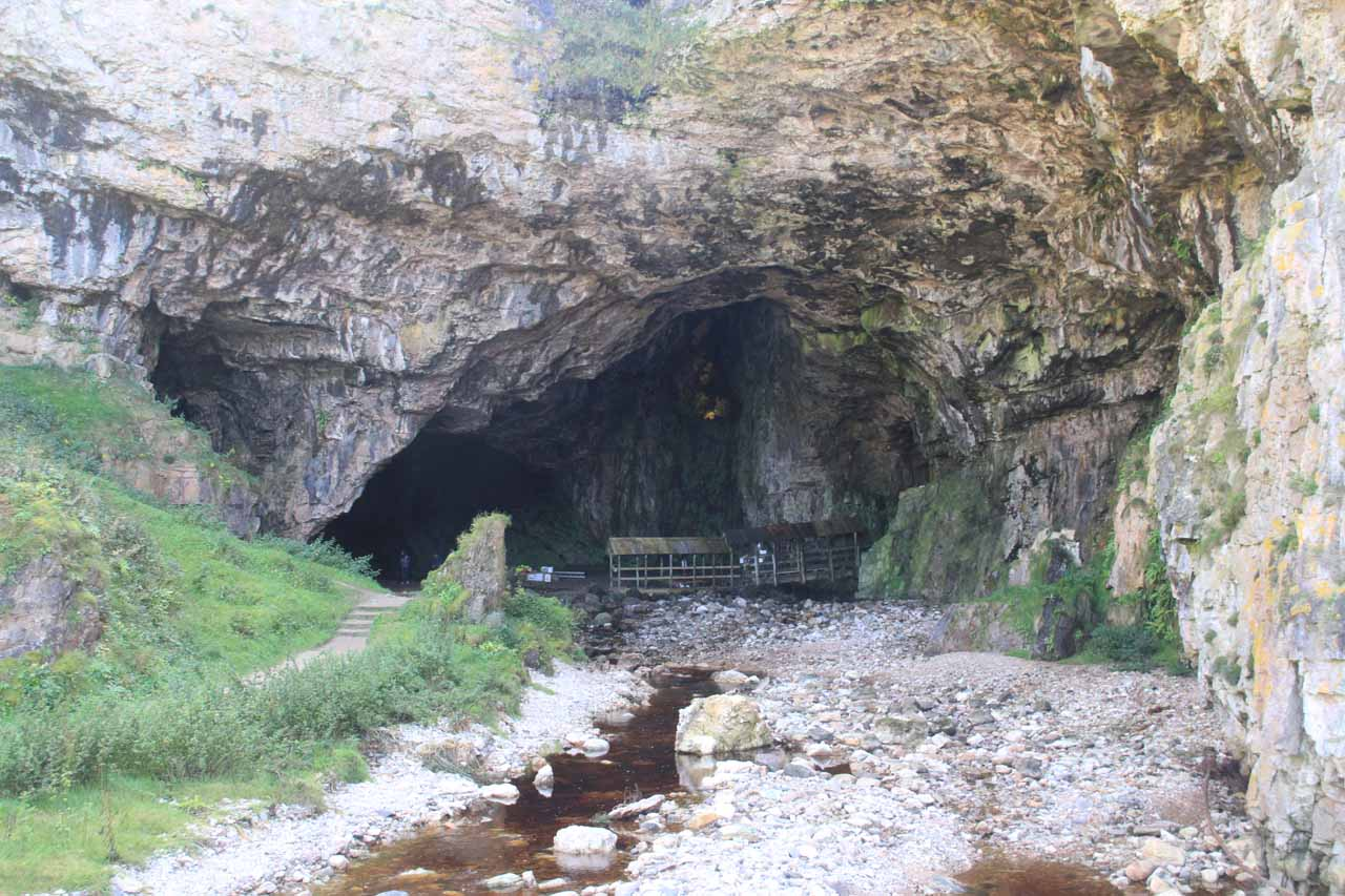The mouth of the impressive Smoo Cave