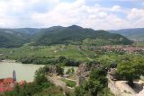 Durnstein_158_07072018 - View back across the Wachau Valley and Danube River from the castle ruins over Durnstein