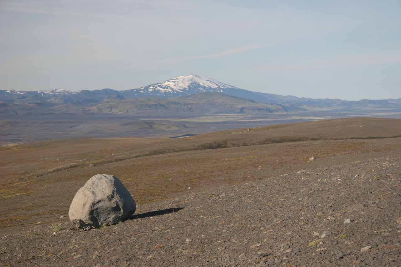Looking back towards Mt Hekla while on the 4wd road to Dynkur