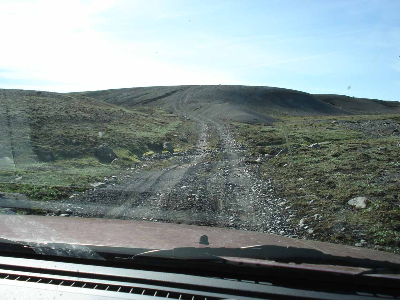 The 4wd road beyond the large boulder field