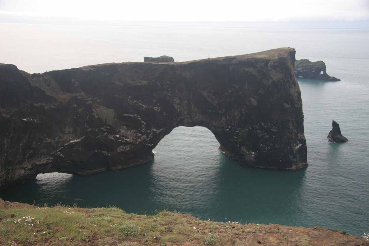 About 20km to the east of Skogafoss are the gorgeous sea arches and cliffs by the bluff of Dyrhólaey