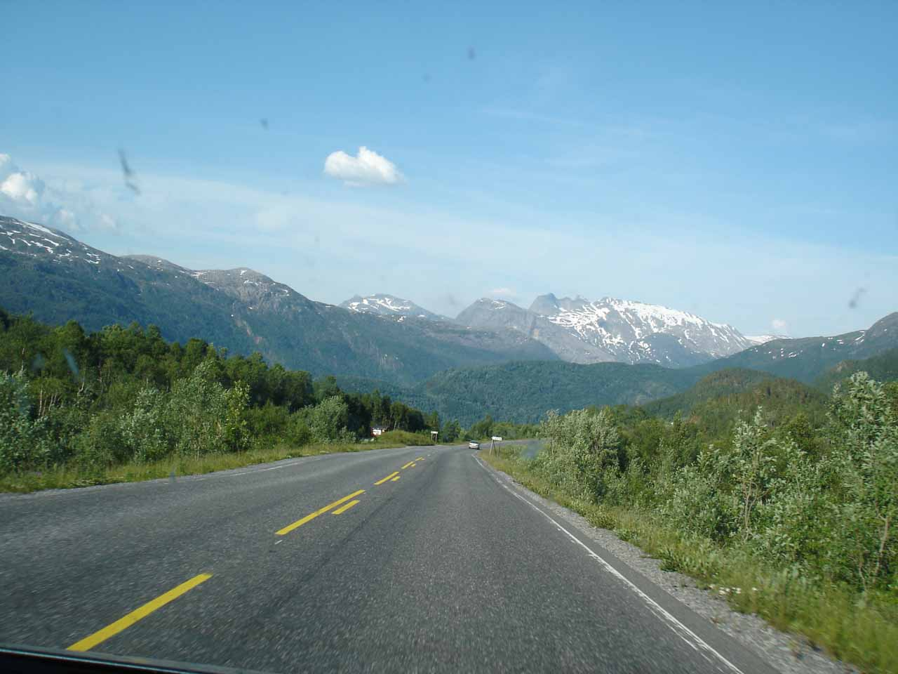 This was the scenery that dominated the long drive along the E6 towards Narvik
