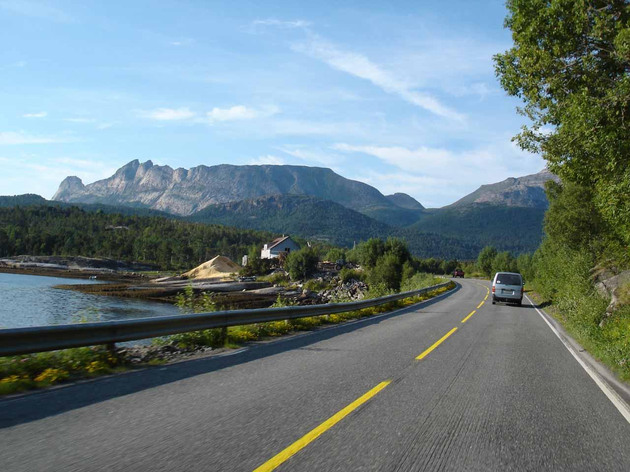 More long driving along the E6 towards Tysfjorden