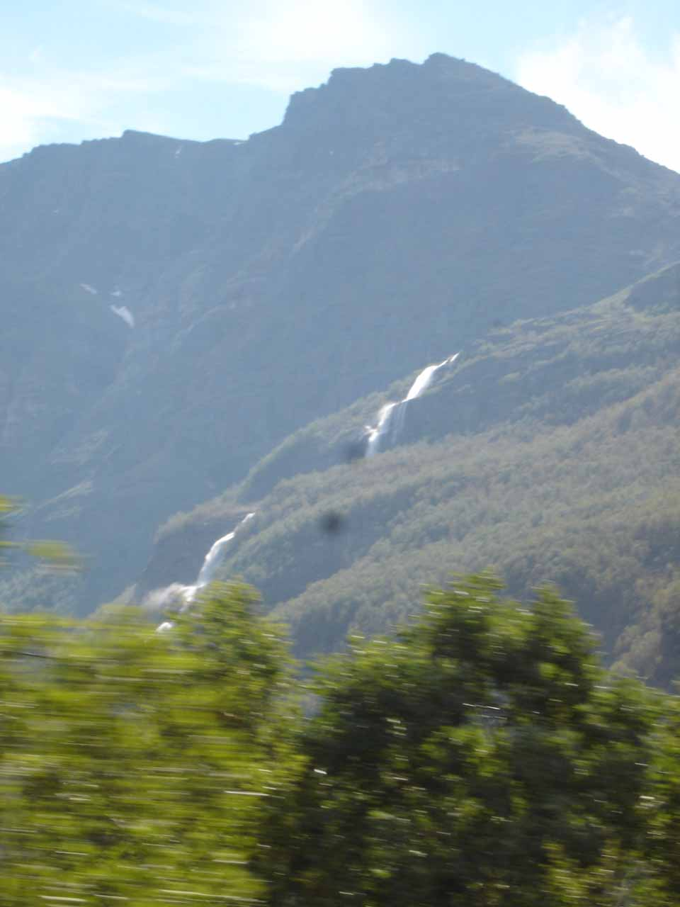 On the day before, we were driving north towards Kåfjorden and we caught a glimpse of this fairly sizable waterfall but we didn't know which stream it belonged to