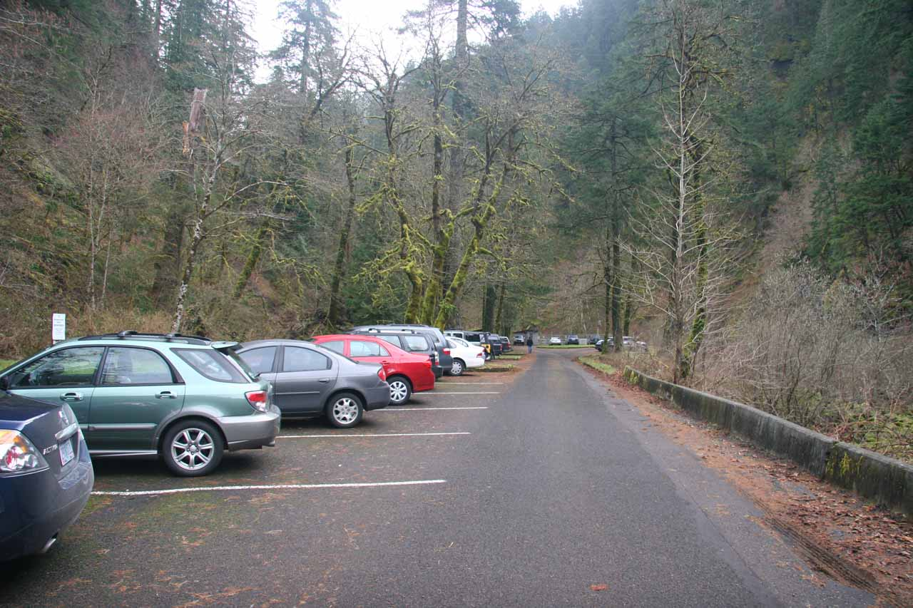 At the car park for the Eagle Creek Trail
