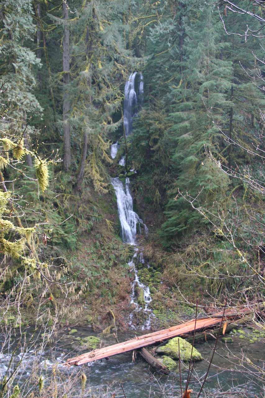 Tiny waterfall near beginning of the trail