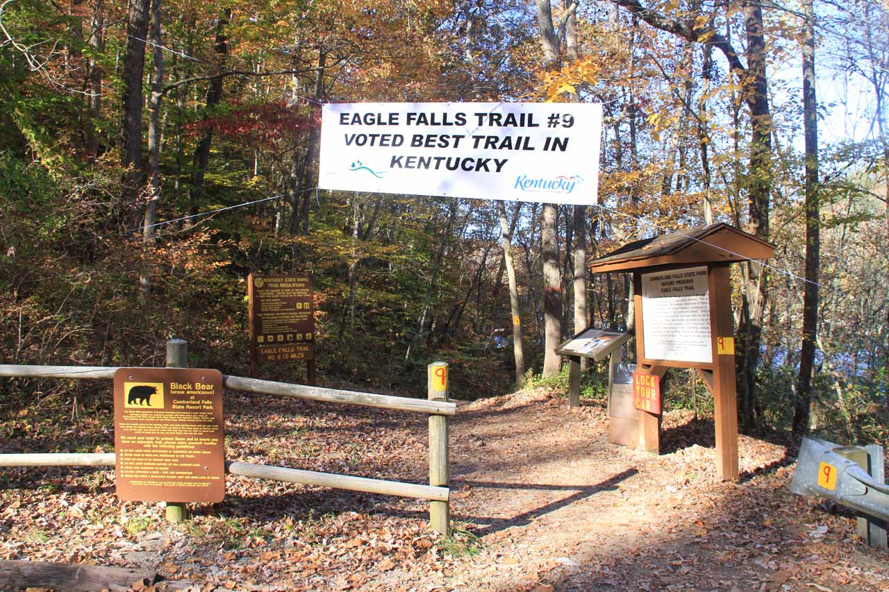 Trailhead for Eagle Falls