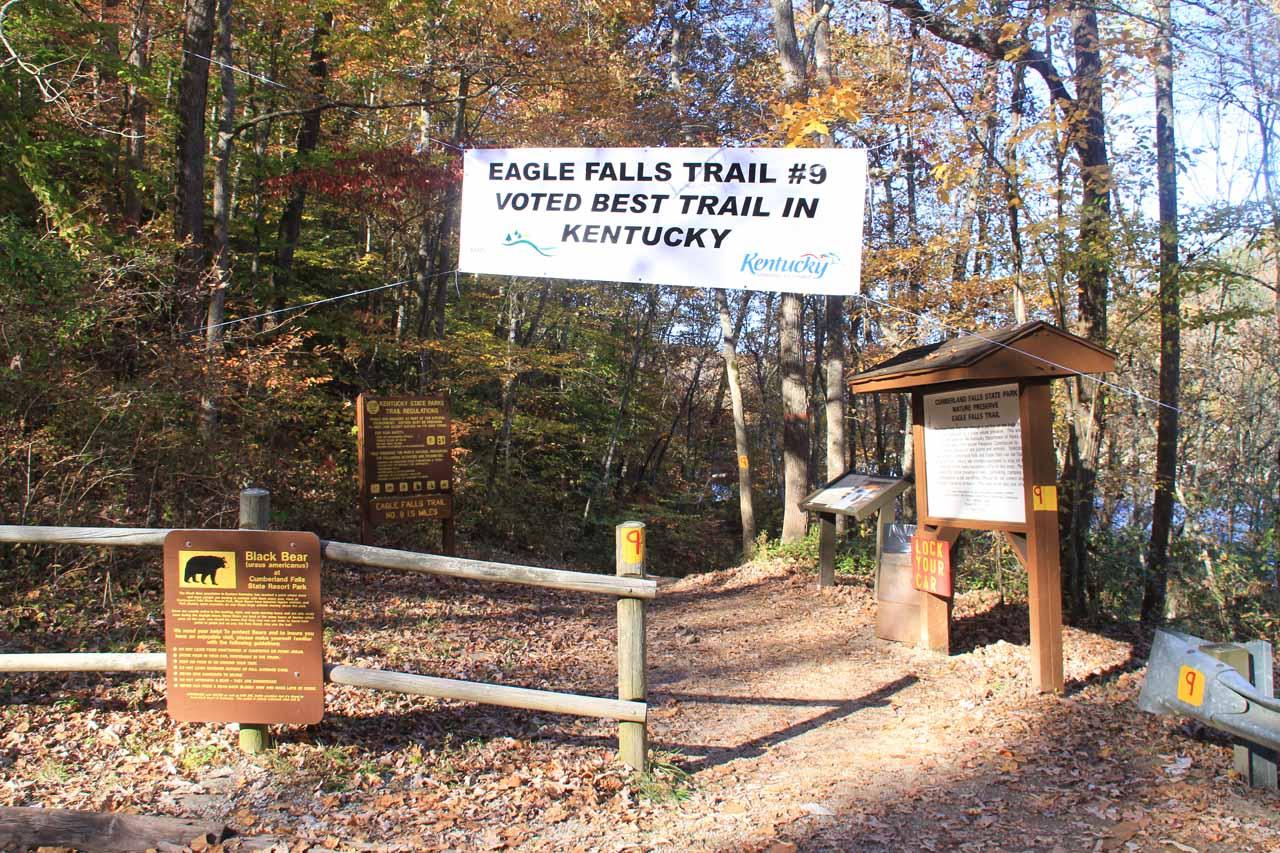 Trailhead for Eagle Falls