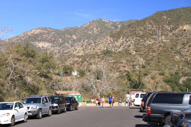 Eaton_Canyon_002_02042012 - Looking towards the end of the long parking lot for the Eaton Canyon Nature Center and the Eaton Canyon County Park