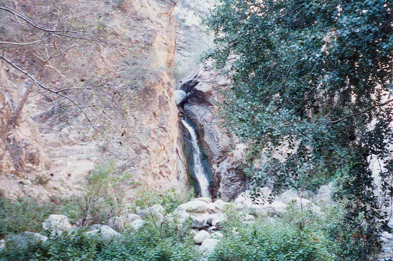 Approaching Eaton Canyon Falls in 2001