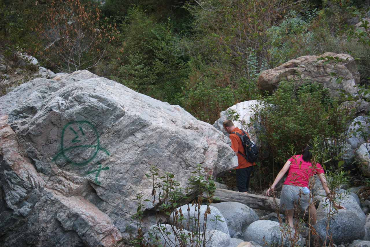 Graffiti along the trail