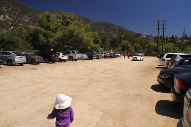 Eaton_Canyon_Falls_14_001_04062014 - This was the unpaved overflow parking lot at the Eaton Canyon County Park, which I'd imagine would be open on weekends