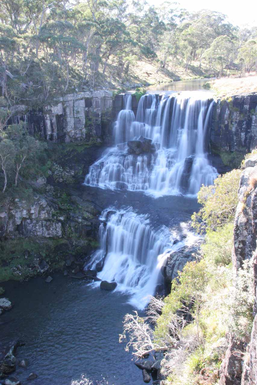 About 40km east of Wollomombi Falls was Ebor Falls, which definitely had much better flow.  Shown here is the upper waterfall