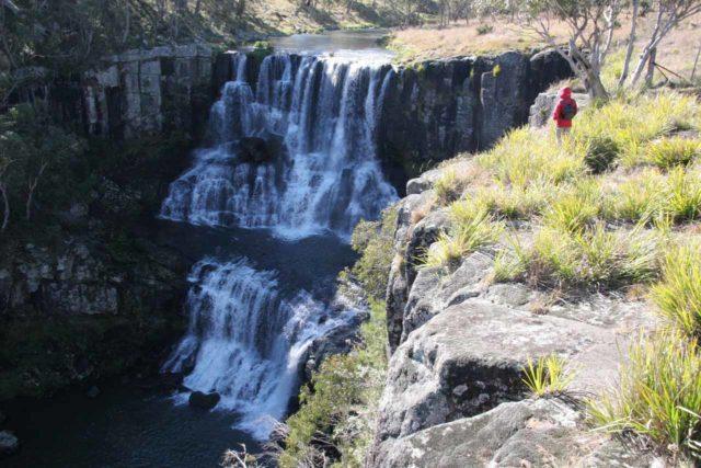 Ebor_Falls_061_05062008 - Julie at the Upper Ebor Falls