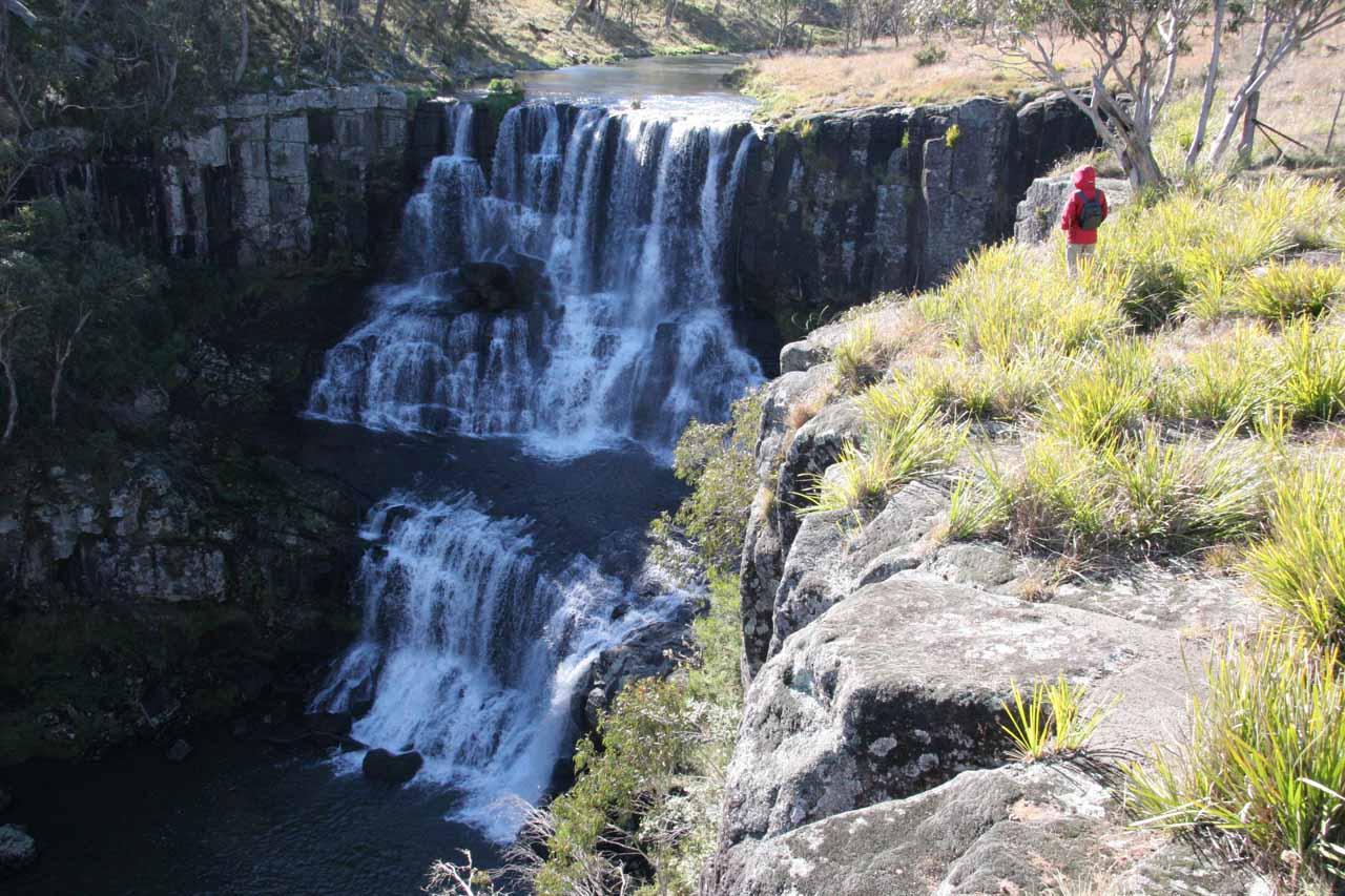 Julie by the Upper Ebor Falls