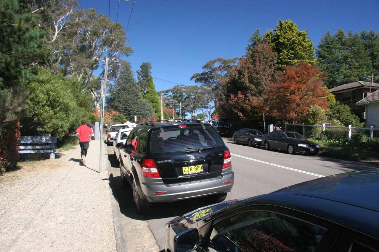 Parallel parking near Echo Point