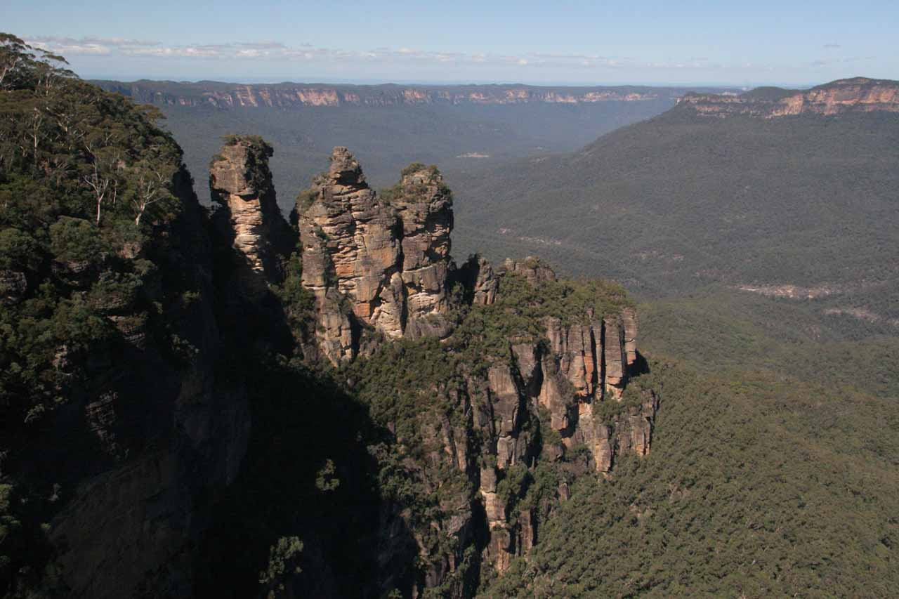 Nearby Katoomba Falls are the Three Sisters at Echo Point