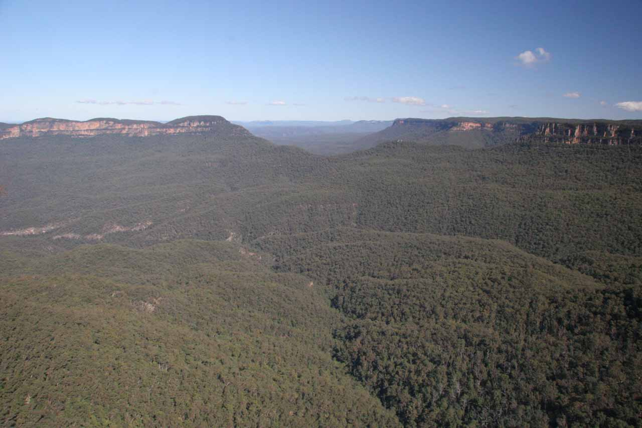The panorama at Echo Point