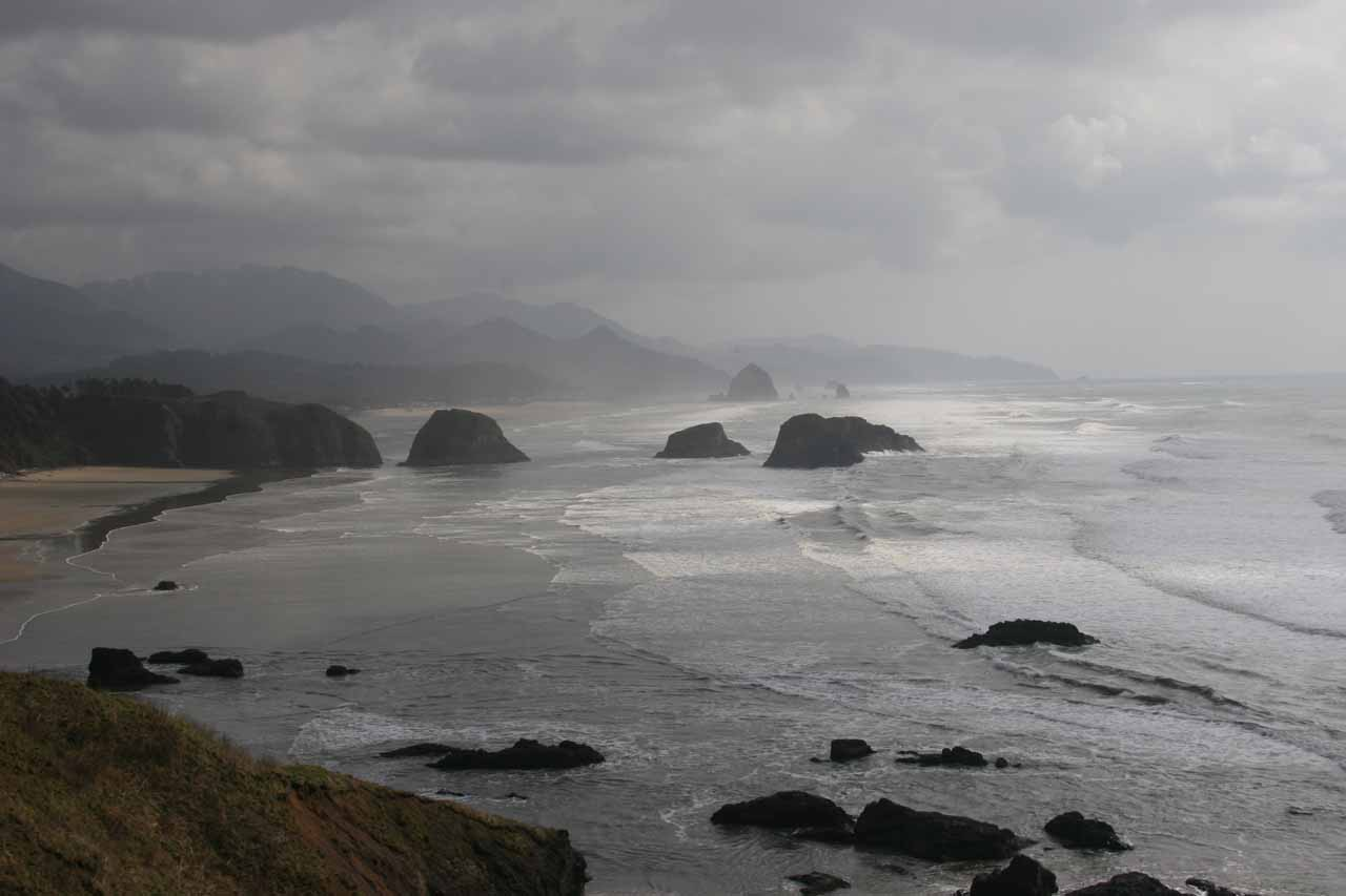 Ecola State Park looking towards Cannon Beach