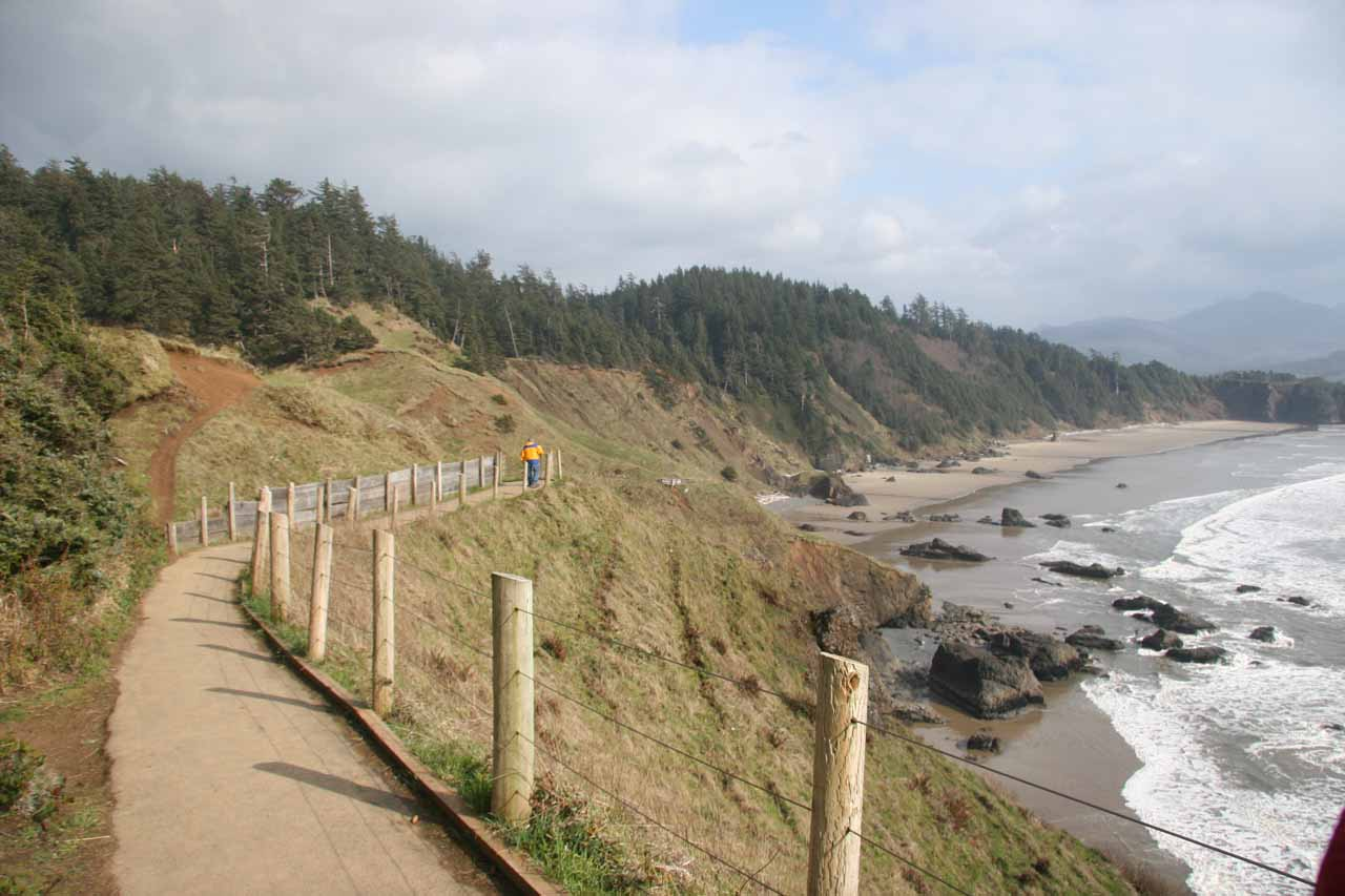 View from the walkway at Ecola State Park