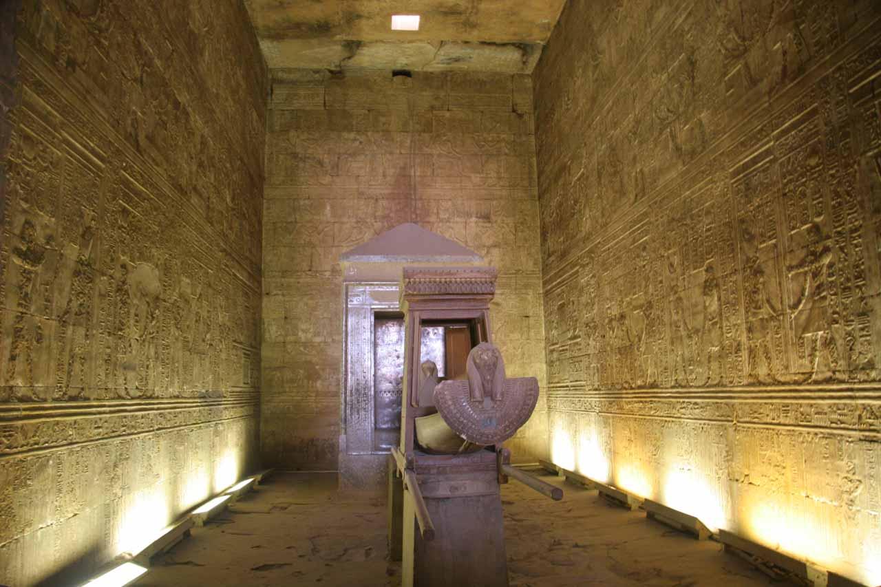 The innermost room in Edfu Temple