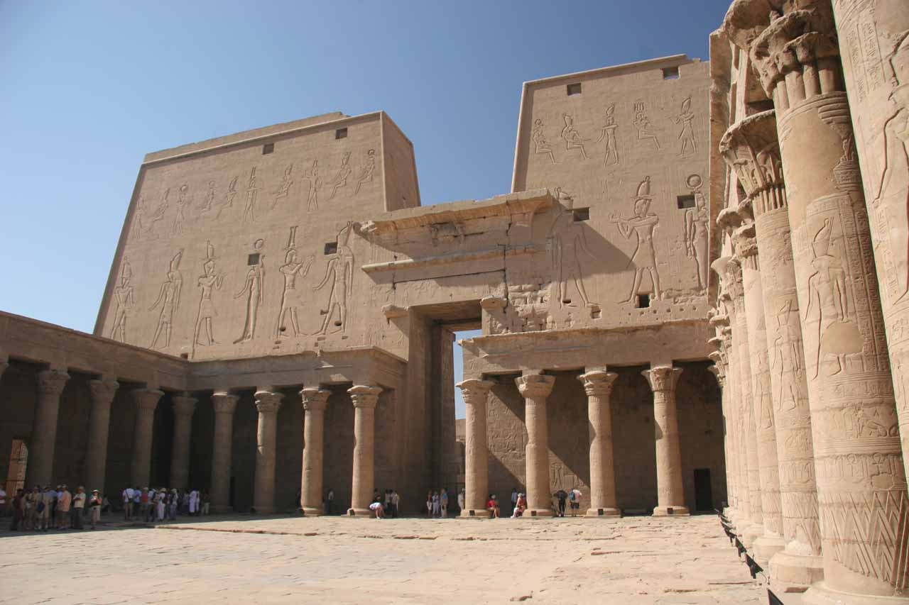 Courtyard in Edfu Temple