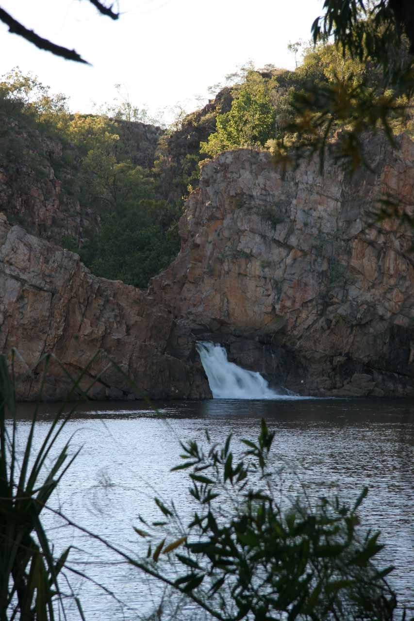As we circled the large plunge pool, we were able to get slightly different viewing angles of Edith Falls