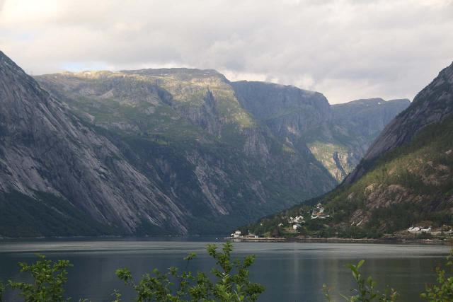 Eidfjord_kommune_011_06232019 - Vedalsfossen was near the town of Eidfjord, which sat right at the head of the Eidfjord arm of the Hardangerfjord. Its scenic location (also neighboring Simadalen shown here) made it a very popular place for tourists