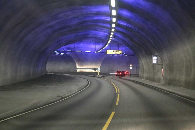 Eidfjord_kommune_029_06232019 - One of the underground roundabouts surrounding the newly-built Hardanger Bridge