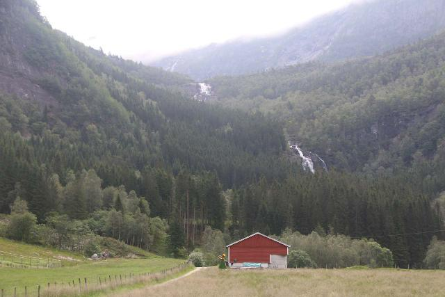 Eidslandet_010_06272019 - View of Stigfossen and Fjellfossen (kind of) from the end of the road at Leirmoo during our return visit in late June 2019