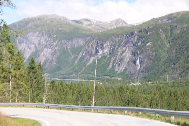 Eikesdalen_007_07162019 - This blurry shot of Strandfossen from the Fv660 road was my only fleeting shot of the thin waterfall when I saw it again in 2019