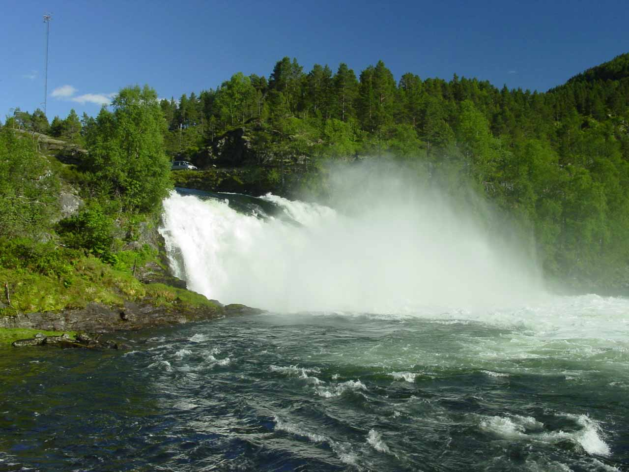 Eikjelandsfossen in Waterfall Country